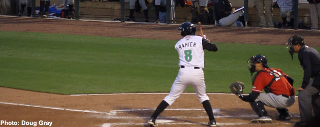 Tanner Rahier had a big double header that helped the Dayton Dragons sweep the set on Saturday evening.