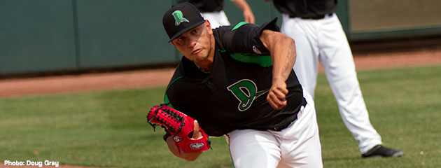 Ismael Guillon and the Dayton Dragons pitching staff have been dominating the Midwest League so far this season.