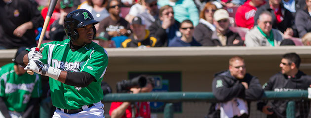 Phillip Ervin hit .409 last week for the Dayton Dragons.