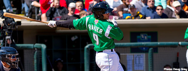 Tanner Rahier homered and drove in two runs in a Dayton Dragons comeback win on Tuesday night.